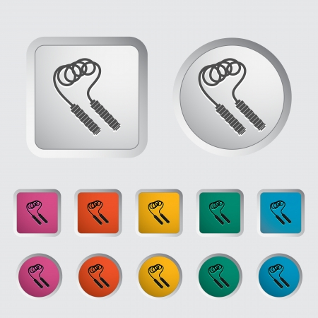 Skipping rope icon. Vector illustration. Stock Vector - 16785558