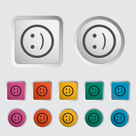'face painting': Smile icon. Vector illustration