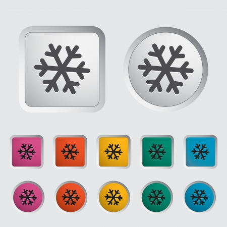 Snowflake icon. Vector illustration Stock Vector - 16786942