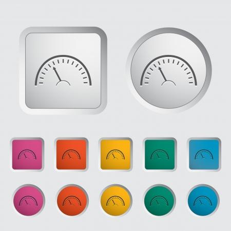 Speedometer icon. Vector illustration  Stock Vector - 16786967