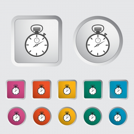 Stopwatch icon  Vector illustration Stock Vector - 16786029