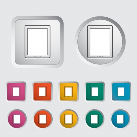 pc icon: Tablet PC icon  Vector illustration