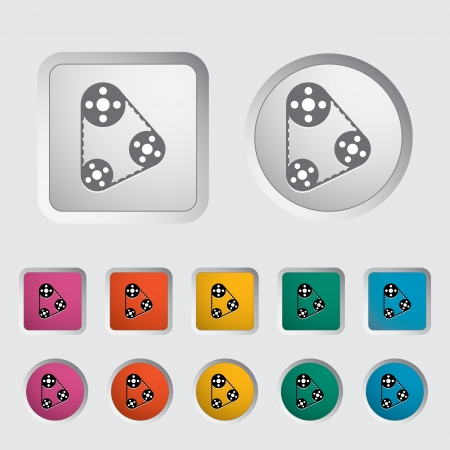 timing: Timing belt icon  Vector illustration