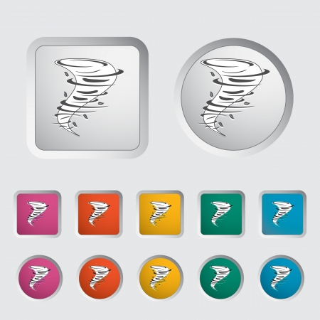 Tornado icon  Vector illustration Stock Vector - 16785644