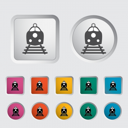 Train icon  Vector illustration Stock Vector - 16786960
