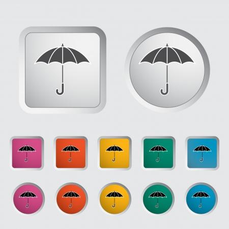 Umbrella icon  Vector illustration Stock Vector - 16787052
