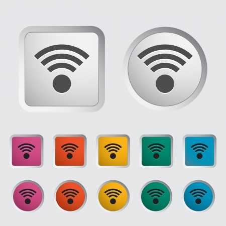 Wireless icon  Vector illustration Stock Vector - 16786608
