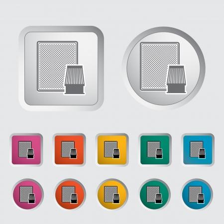 Automotive filter icon  Vector illustration Stock Vector - 16785608