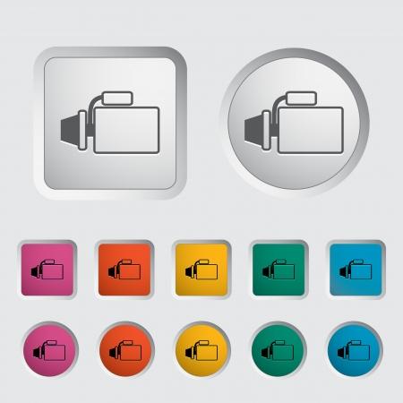 alternator: Icon automotive starter  Vector illustration