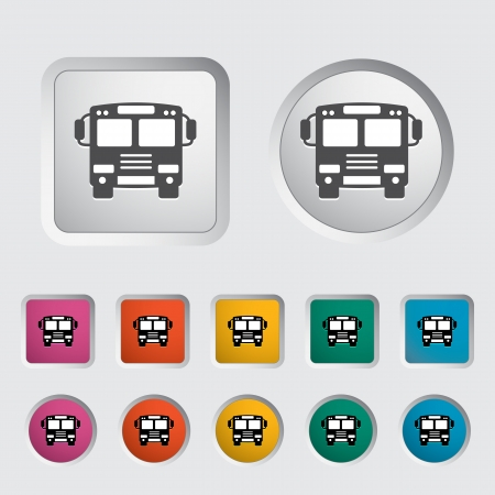 Bus icon  Vector illustration  Vector