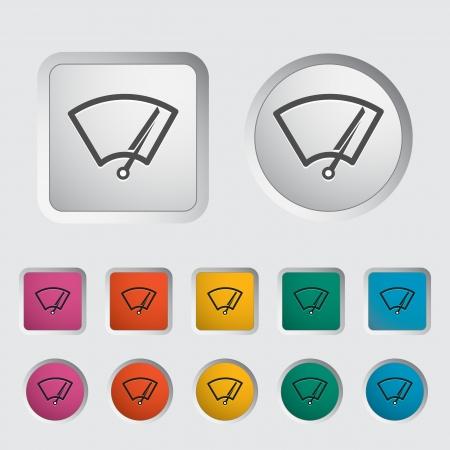 ruitenwisser: Auto pictogram wisser Vector illustratie