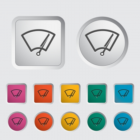 wiper: Car icon wiper  Vector illustration