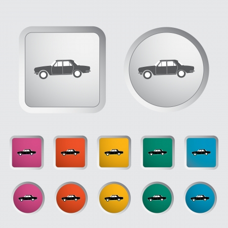 Car icon, black silhouette  Vector illustration Stock Vector - 16786722