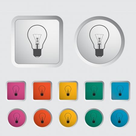 Bulb icon  Vector illustration Stock Vector - 16785550