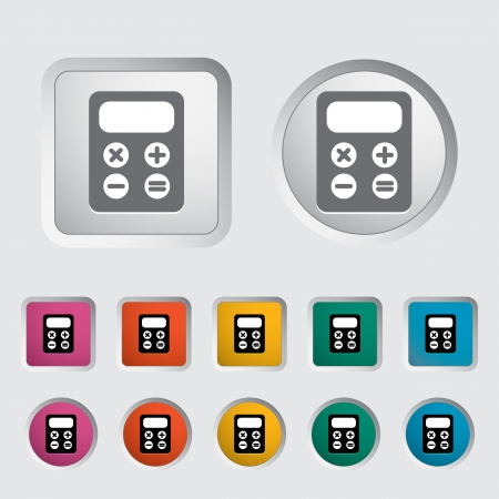 maths department: Calculator icon  Vector illustration Illustration