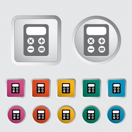 maths department: Calculator icon  Vector illustration Illustration