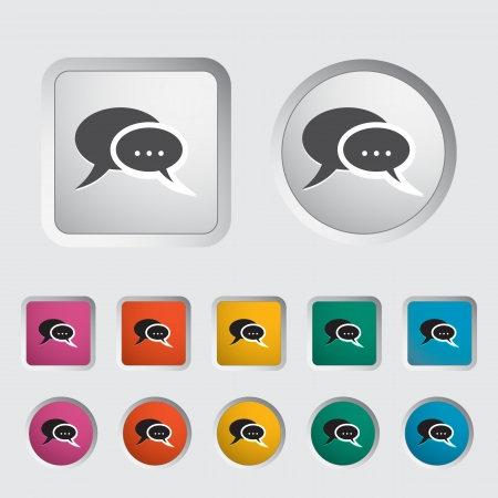 Chat icon  Vector illustration Stock Vector - 16786467