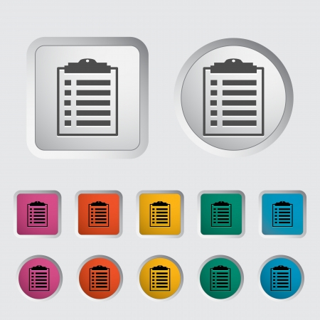 Clipboard icon  Vector illustration   Stock Vector - 16786092