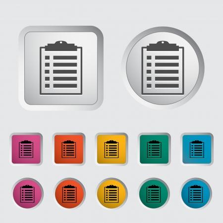 Clipboard icon  Vector illustration Stock Vector - 16786092