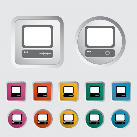 Computer icon  Vector illustration Stock Vector - 16786982