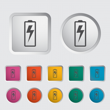 Battery icon  Vector illustration  Stock Vector - 17304231