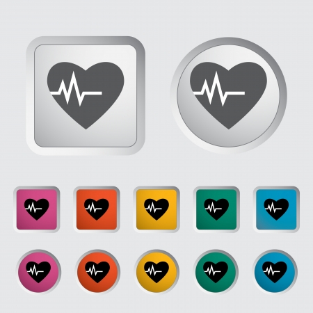 Heart icon, black silhouette  Vector illustration Stock Vector - 17304267