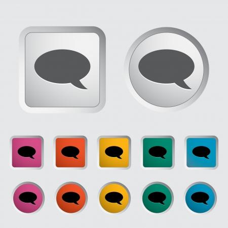 Chat icon  Vector illustration   Stock Illustration - 17304191