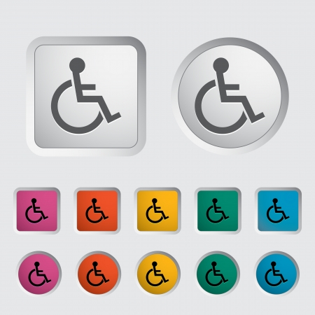 Disabled single icon  Vector illustration Stock Vector - 17304187