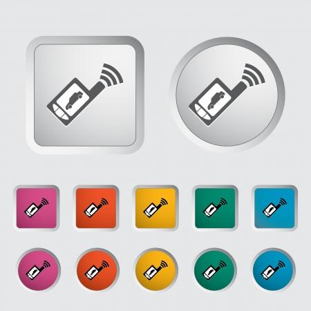 remote lock: Coche de control remoto icono Ilustraci�n vectorial
