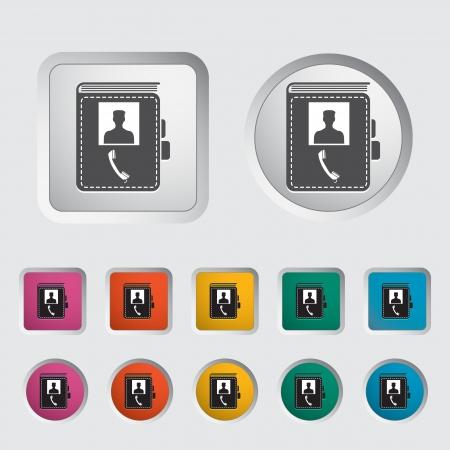 Contact book single icon  Vector illustration Stock Vector - 17304305