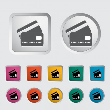 Credit card single icon  Vector illustration Stock Vector - 17304373