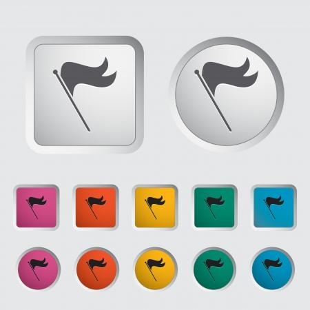 Flag single icon  Vector illustration Stock Vector - 17304271