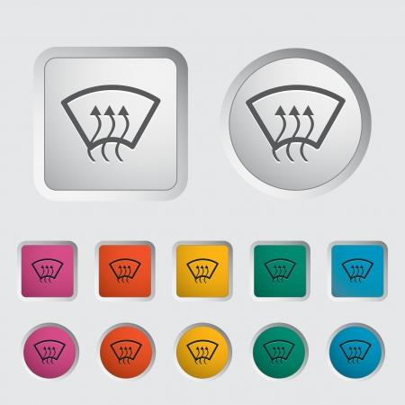 Heating glass single icon  Vector illustration  Stock Vector - 17304277