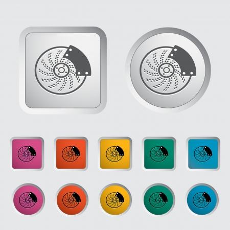 Automobile brakes single icon  Vector illustration  Illustration