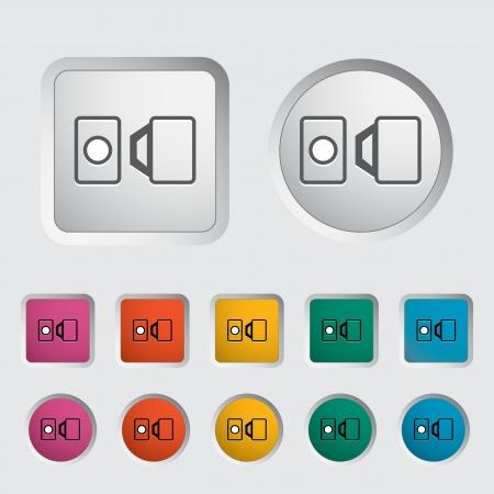 safety harness: Belt single icon. Vector illustration. Illustration