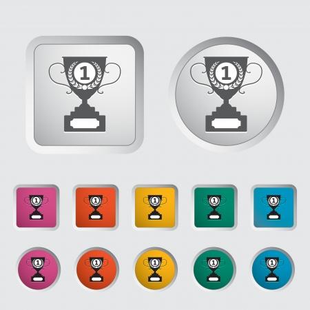 decorative urn: Cup single icon. Vector illustration.
