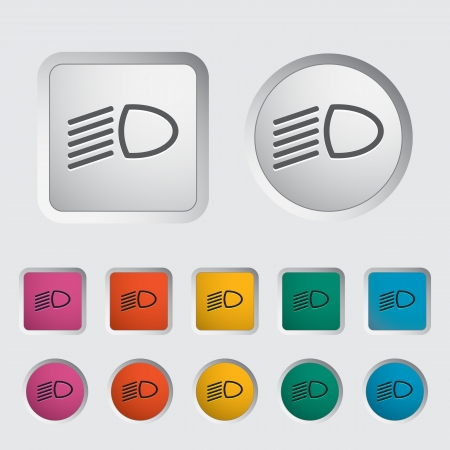 Headlight icon. Vector illustration Stock Vector - 17304283