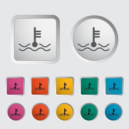 Icon of motor temperature. Vector illustration. Stock Vector - 17304285