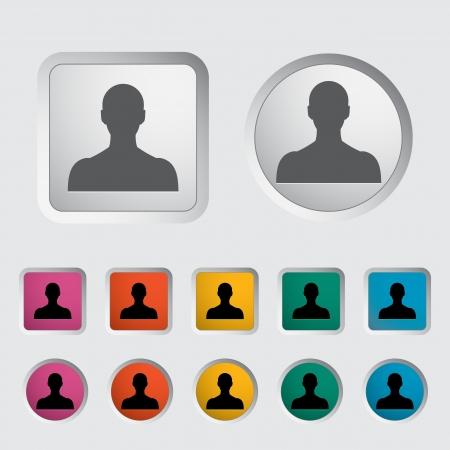 Person single icon  Vector illustration Stock Vector - 17304282