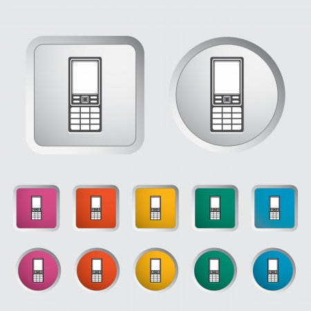 Phone single icon  Vector illustration Stock Vector - 17304197