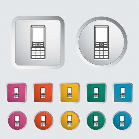 digitized: Tel�fono �nico icono ilustraci�n vectorial Vectores