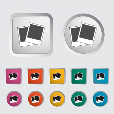 Photo single icon  Vector illustration  Stock Vector - 17304222