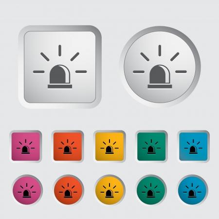 beacon: Police single icon  Vector illustration  Illustration