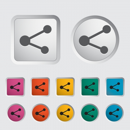 regular tetragon: Share single icon  Vector illustration  Illustration