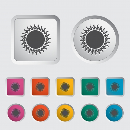 Sun single icon  Vector illustration Stock Vector - 17304374