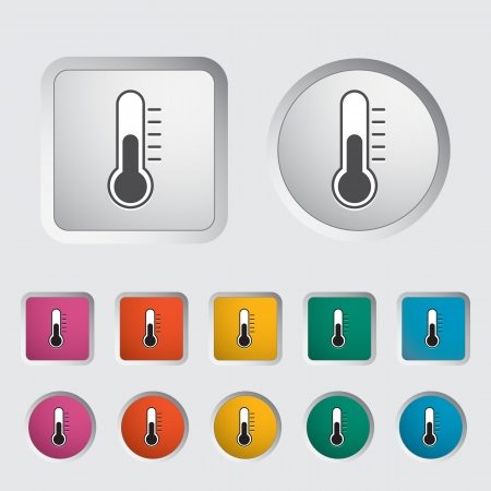 Thermometer icon  Vector illustration   Stock Vector - 17304220