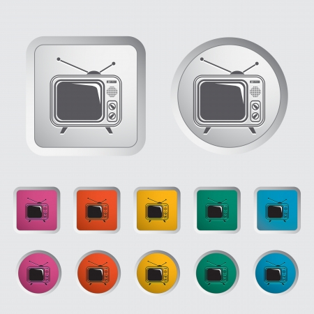 TV single icon  Vector illustration Stock Vector - 17304384