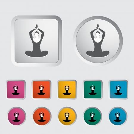 Yoga icon  Vector illustration Stock Vector - 17304371