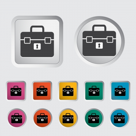 Briefcase single icon. Vector illustration. Stock Vector - 17355272