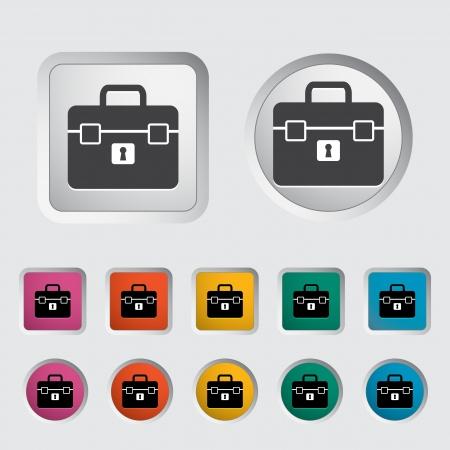 Briefcase single icon. Vector illustration. Stock Vector - 17355272